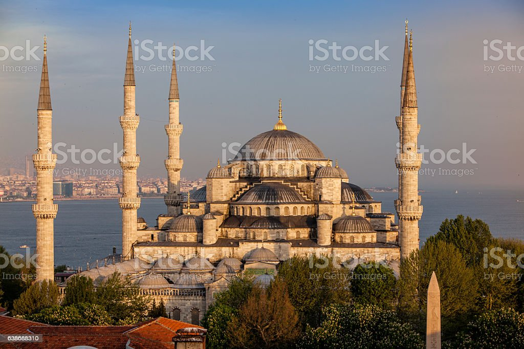 Blue Mosque in Istanbul, Turke stock photo