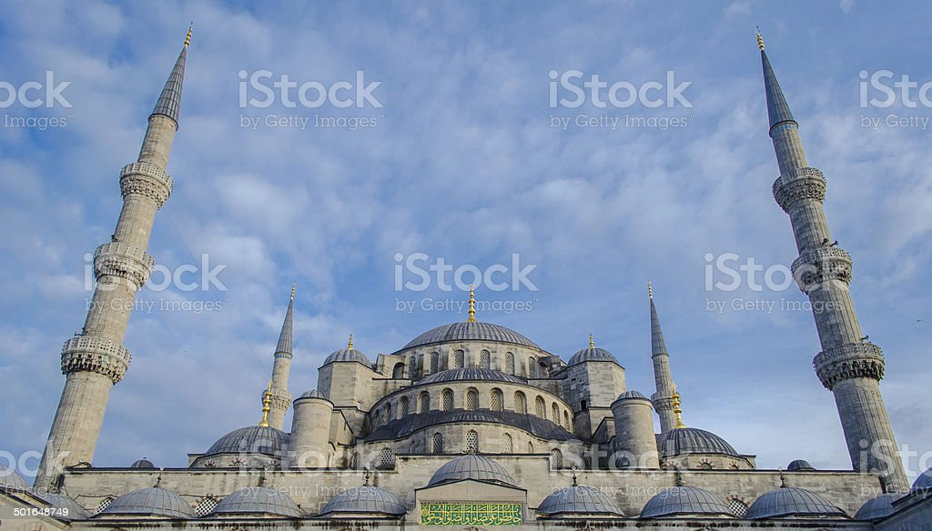Blue Mosque (Sultan Ahmed Mosque) in Istanbul Turkey stock photo