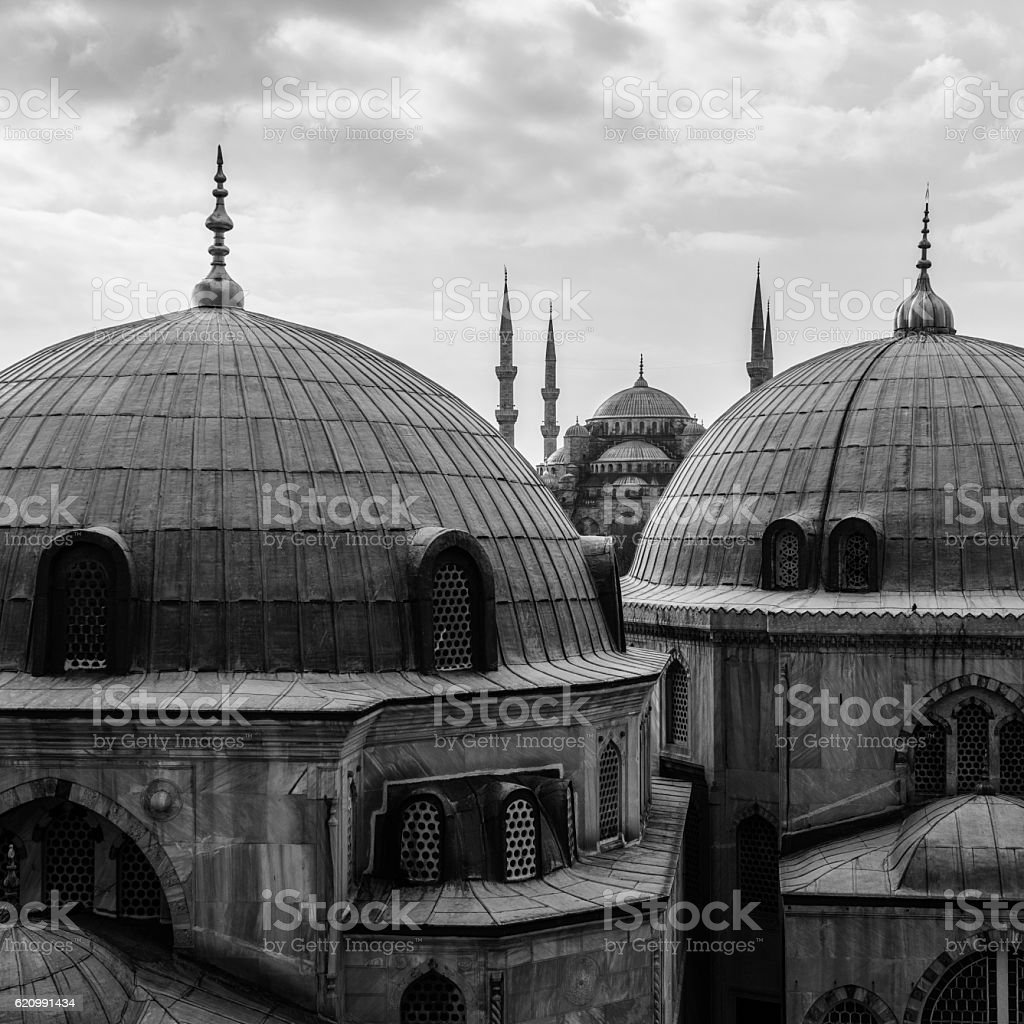 Blue Mosque (Sultan Ahme Camii) Istanbul stock photo