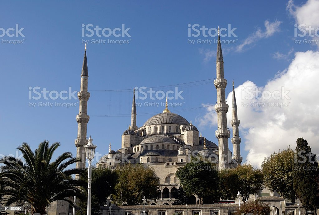 Blue Mosque Istanbul Turkey royalty-free stock photo