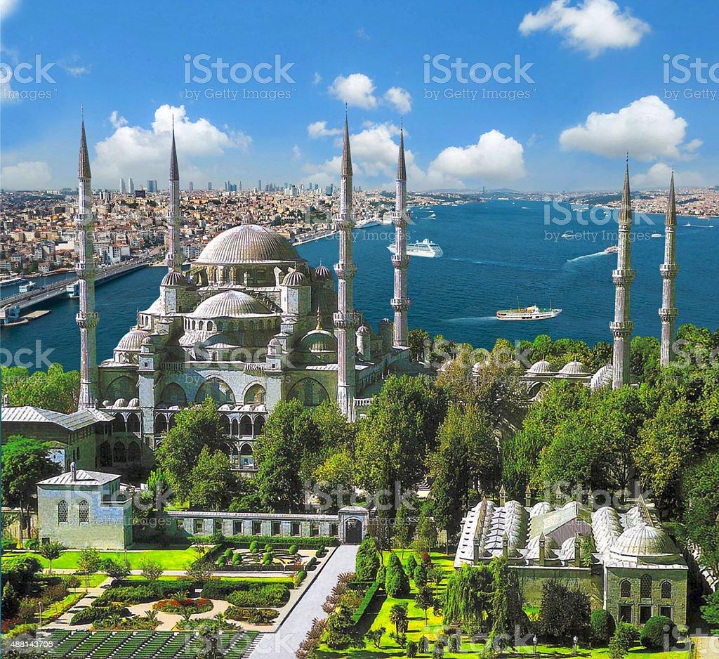 Blue Mosque, Sultanahmet stock photo