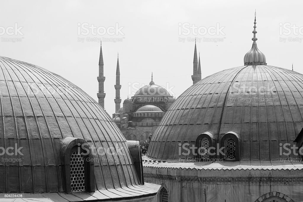 Blue Mosque view from Santa Sofia royalty-free stock photo