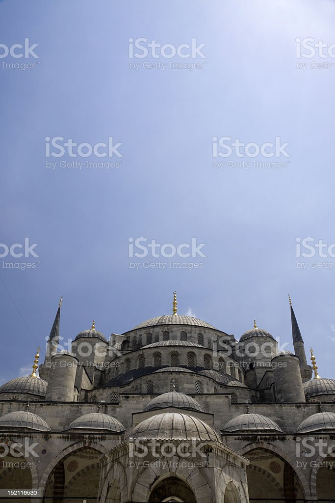 Blue Mosque with Big Sky royalty-free stock photo
