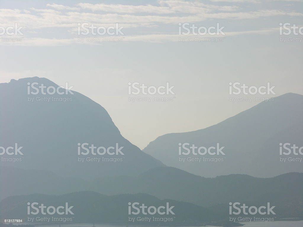 Blue mountain 3 stock photo