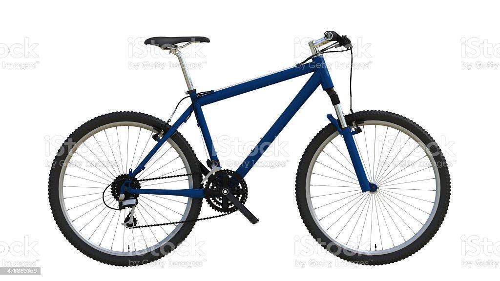 Blue mountain bike stock photo