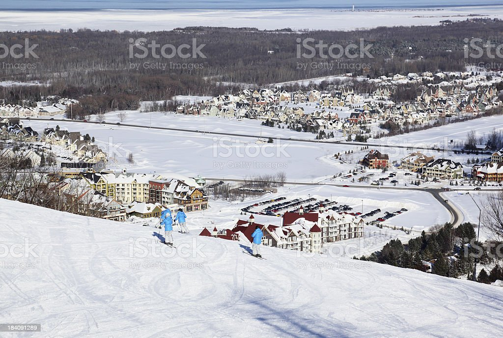 Blue Mountain, Collingwood Ontario. stock photo