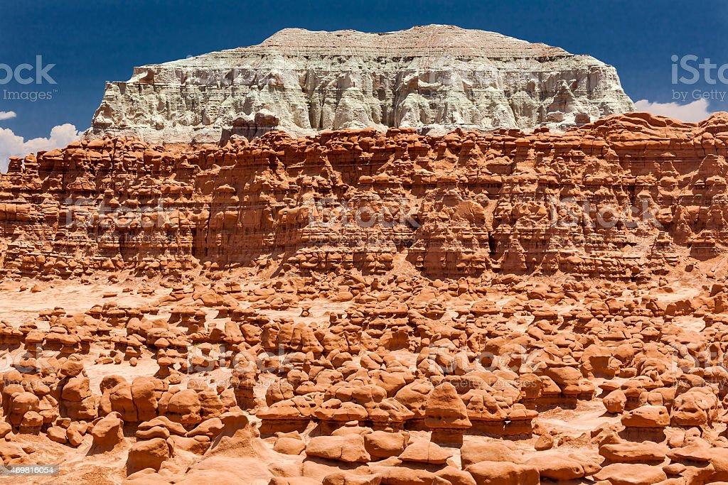 Blue Mountain Hoodoos Goblin Valley State Park Utah stock photo