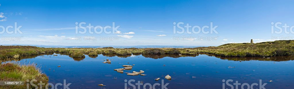 Blue mountain lake big sky high royalty-free stock photo