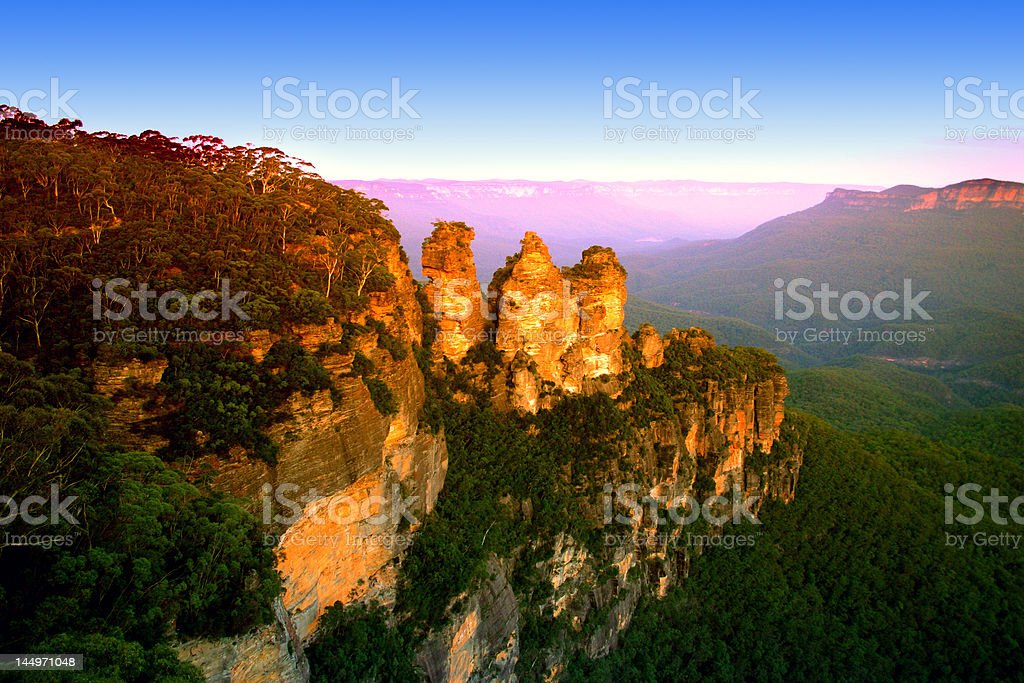 Blue Mountain, NSW, Australia stock photo