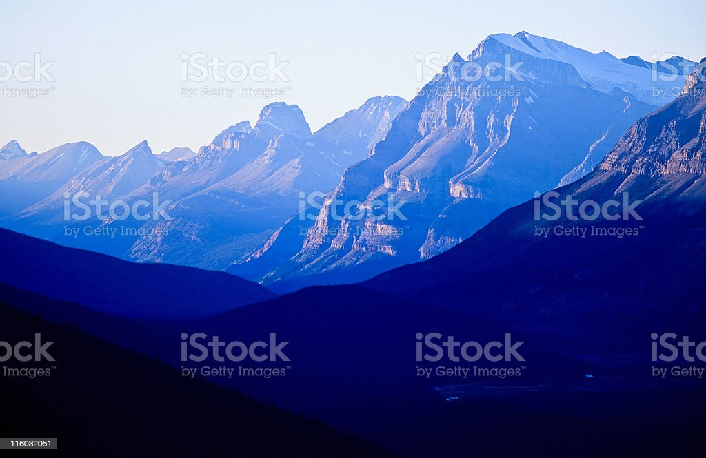 Blue mountain royalty-free stock photo