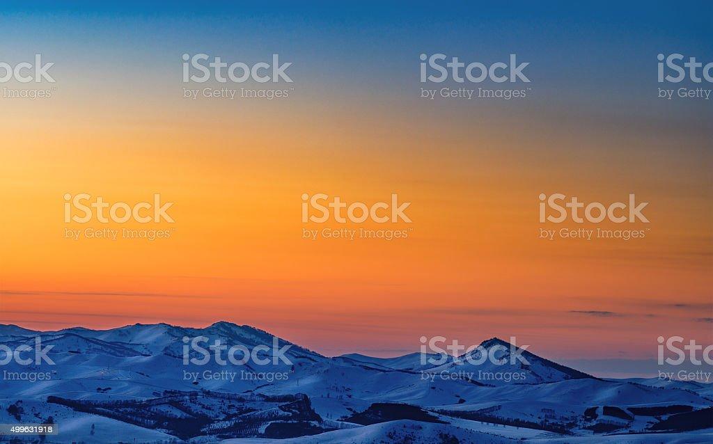 Blue mountain stock photo