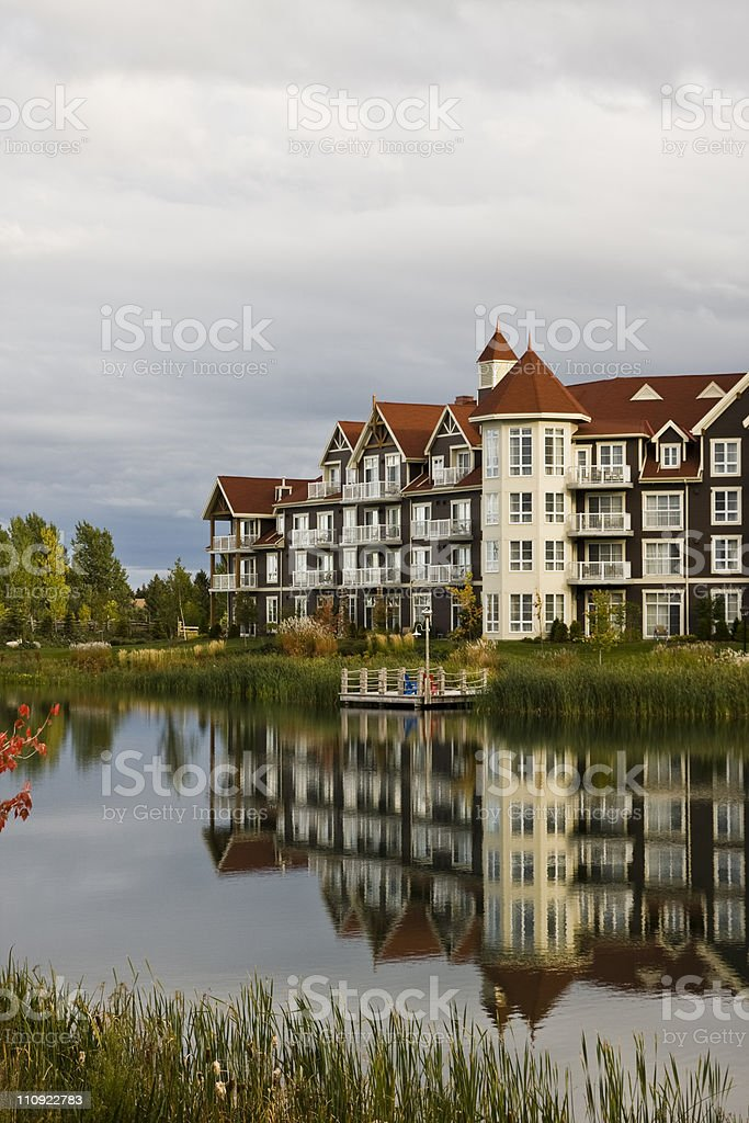 Blue Mountain resort stock photo