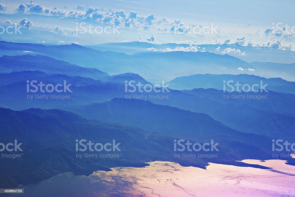 Blue Mountain Ridge royalty-free stock photo