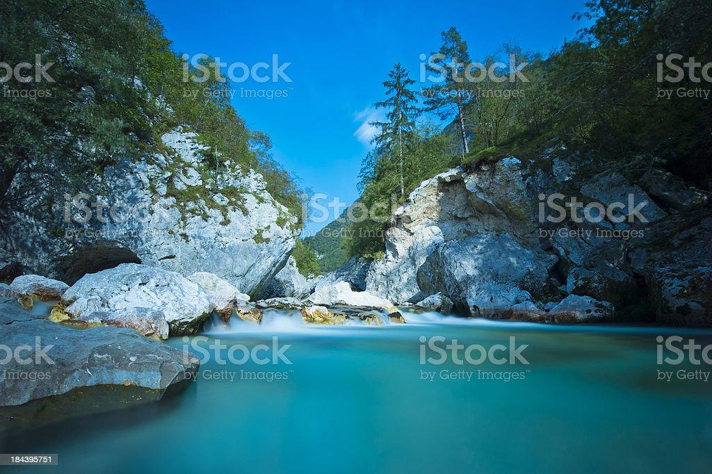 Blue Mountain River stock photo