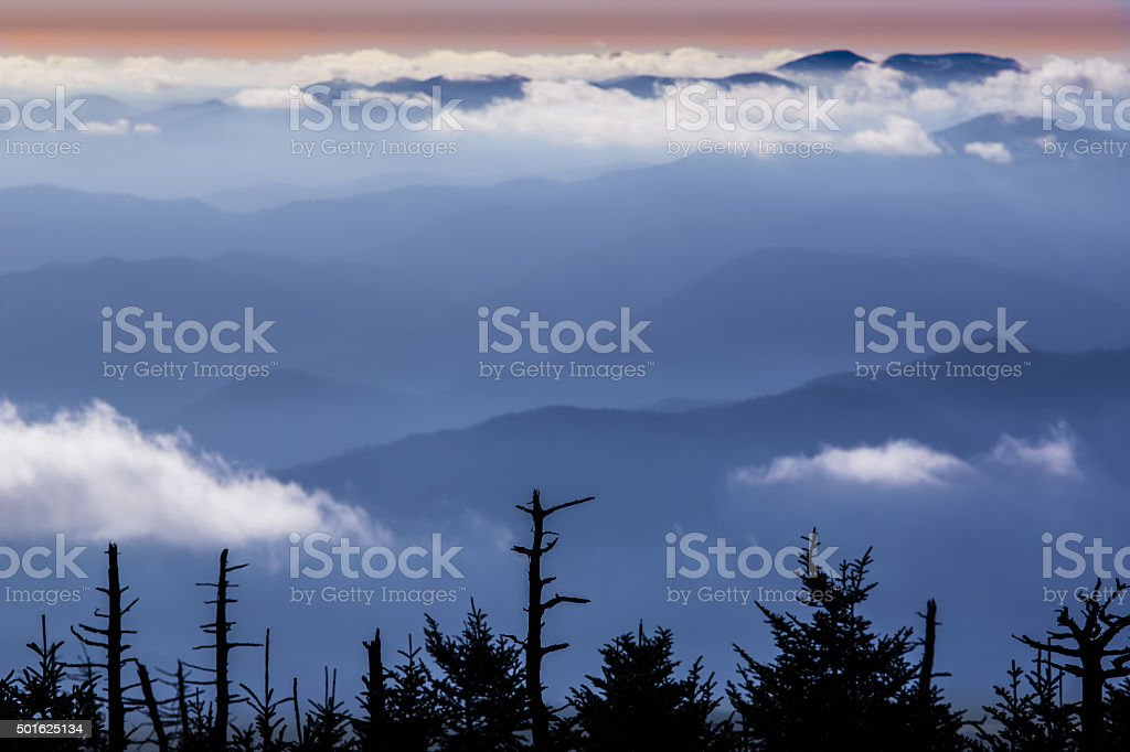 Blue Mountain Scene stock photo