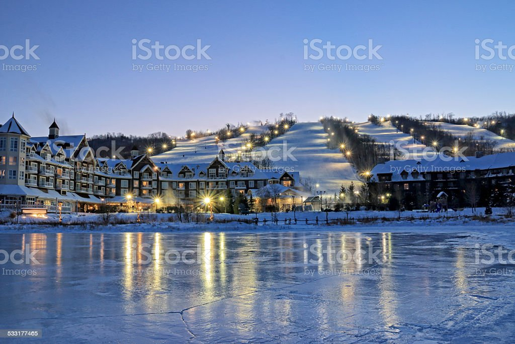 Blue Mountain Ski Resorts stock photo
