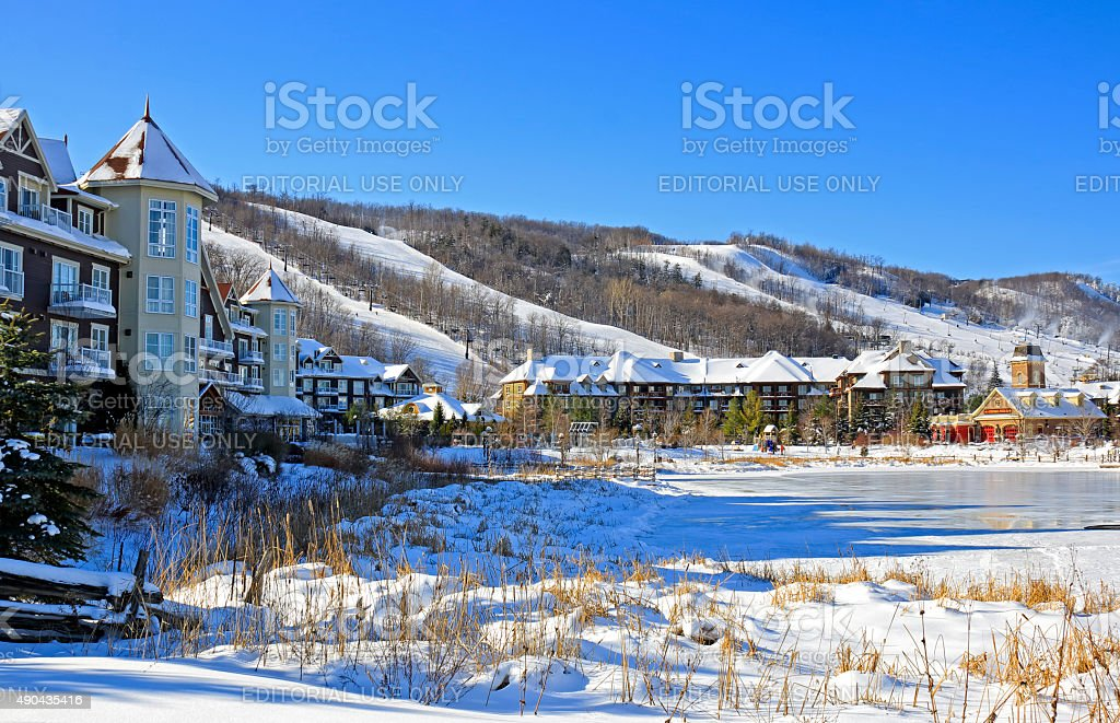 Blue Mountain Ski Village stock photo