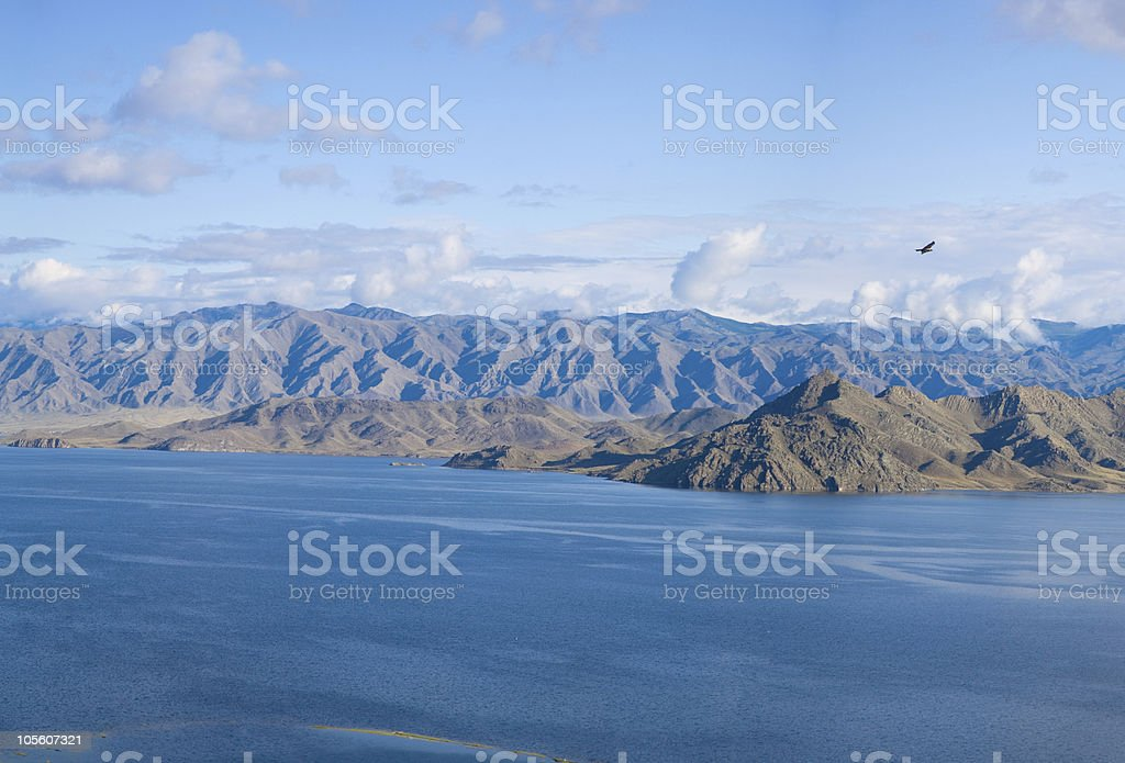 Blue Mountains and the sea royalty-free stock photo