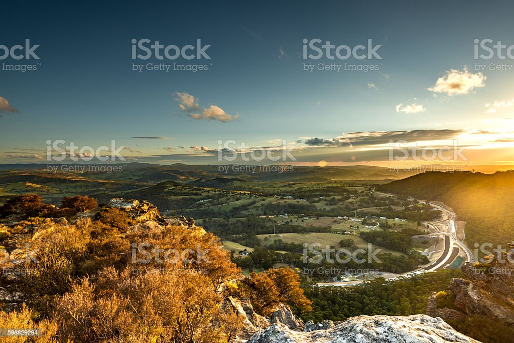 Blue Mountains national park Australia. stock photo