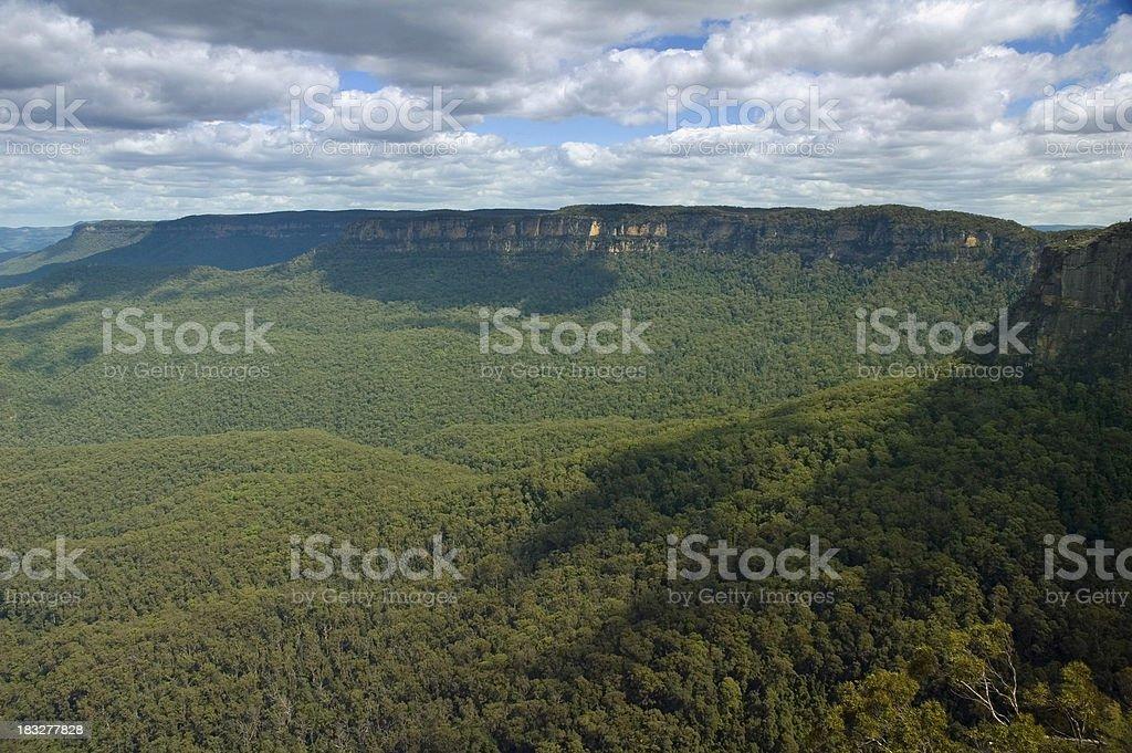 Blue mountains stock photo