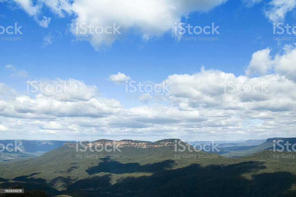 Blue mountains royalty-free stock photo