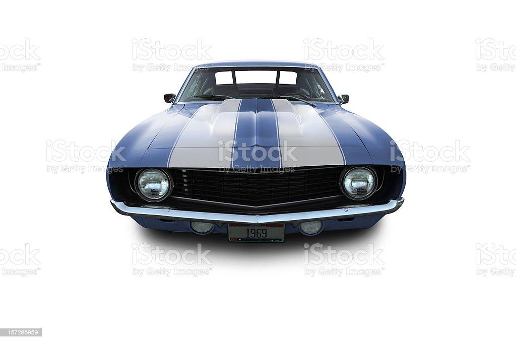 Blue Muscle Car - 1969 Camaro stock photo