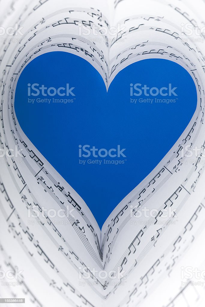 blue music heart royalty-free stock photo