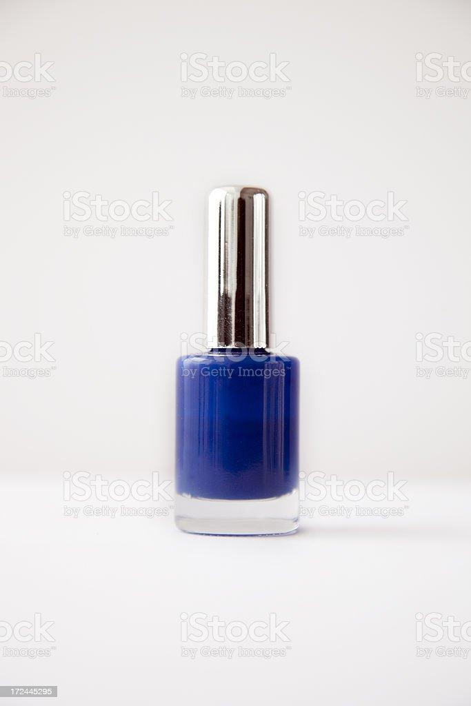 Blue Nail Polish royalty-free stock photo