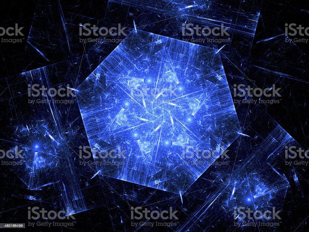 Blue nanotechnology background royalty-free stock photo