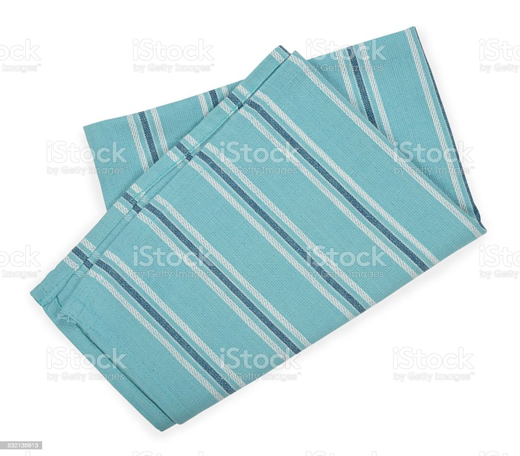 Blue napkin stock photo