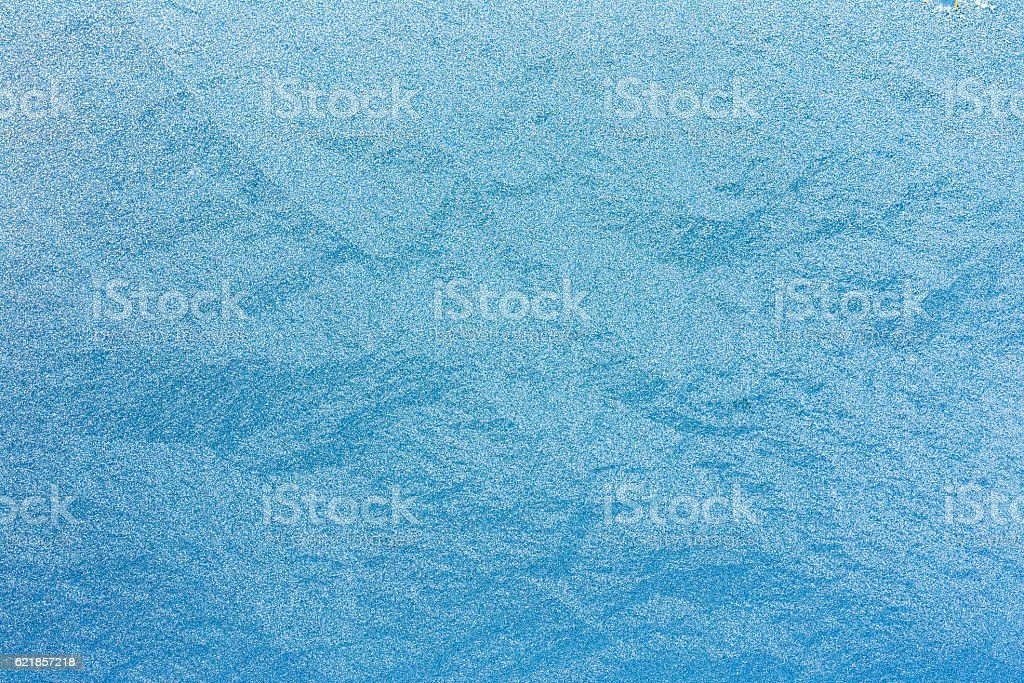 Blue Natural Frosty Glass Ice Background. Winter Xmas Christmas stock photo