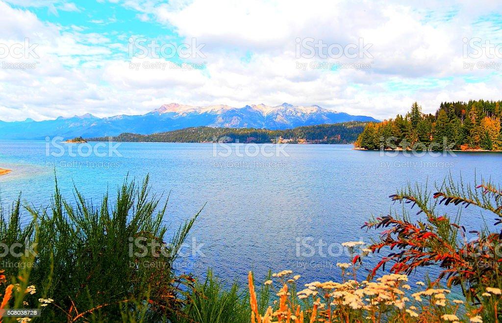Blue nature in Patagonia, Argentina Hi res stock photo