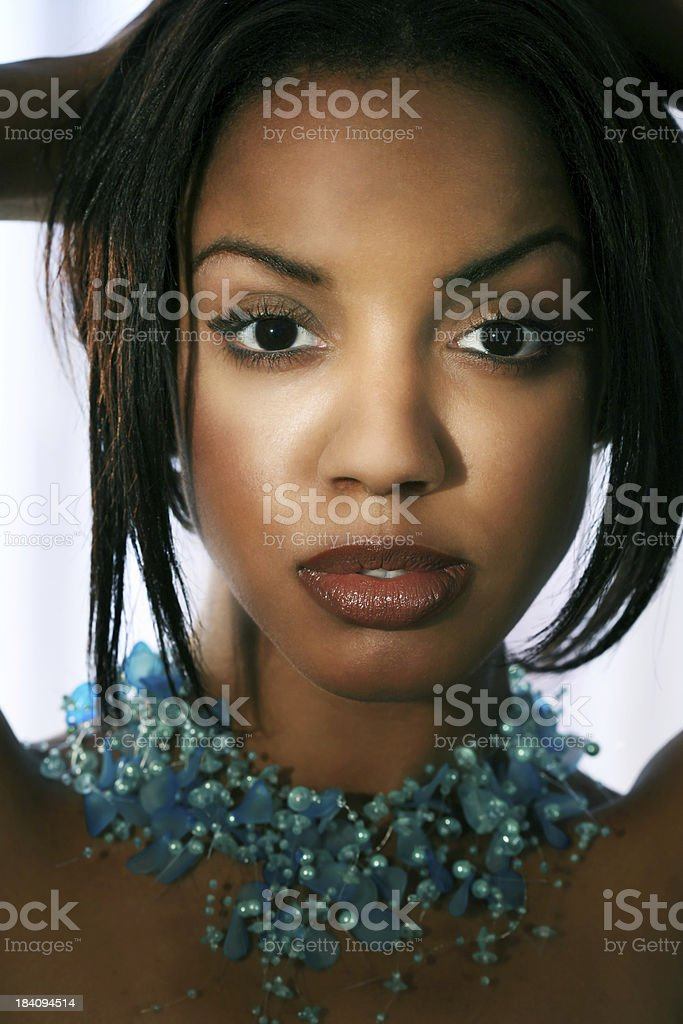 Blue Necklace royalty-free stock photo