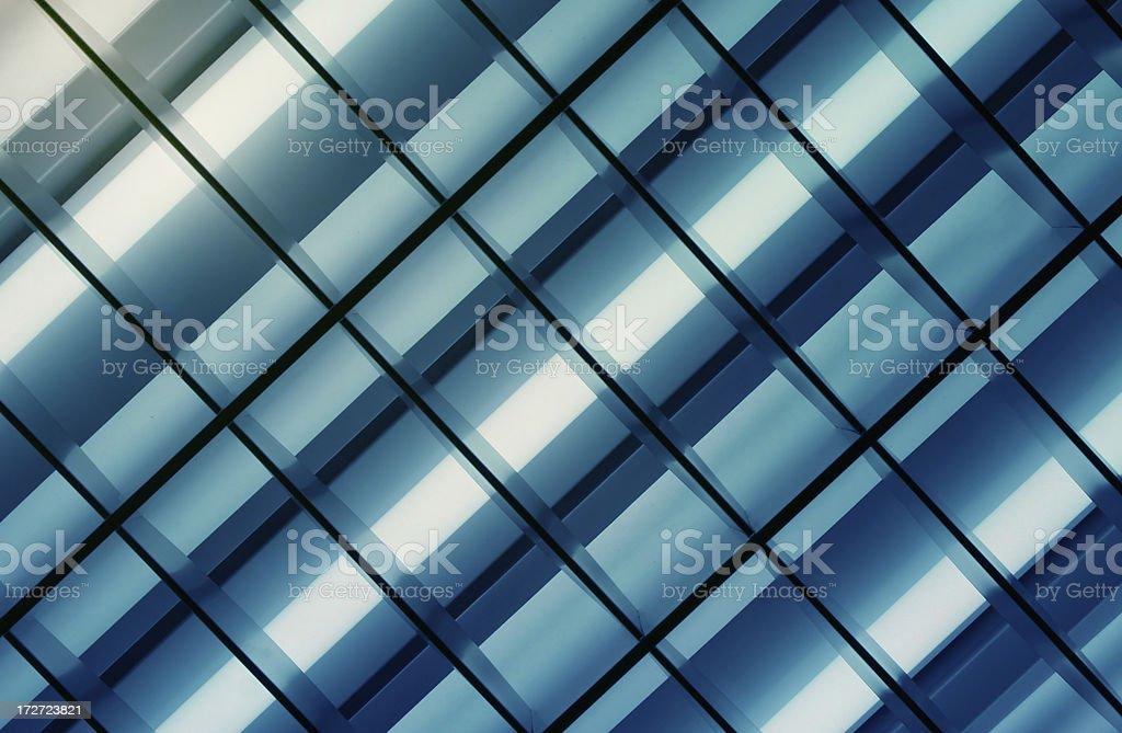 Blue Neon Lights stock photo