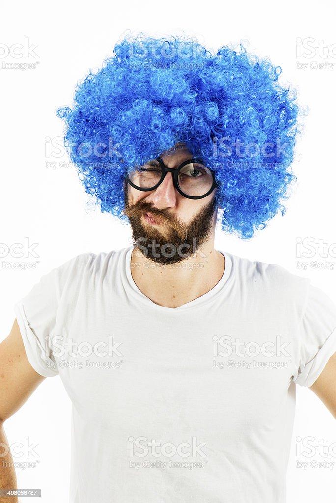 Blue Nerd stock photo