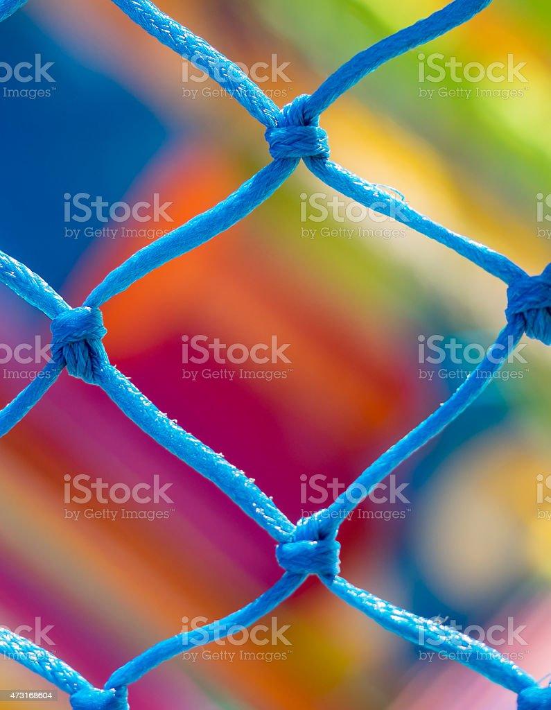 Rede azul close-up e muito Fundo colorido foto royalty-free