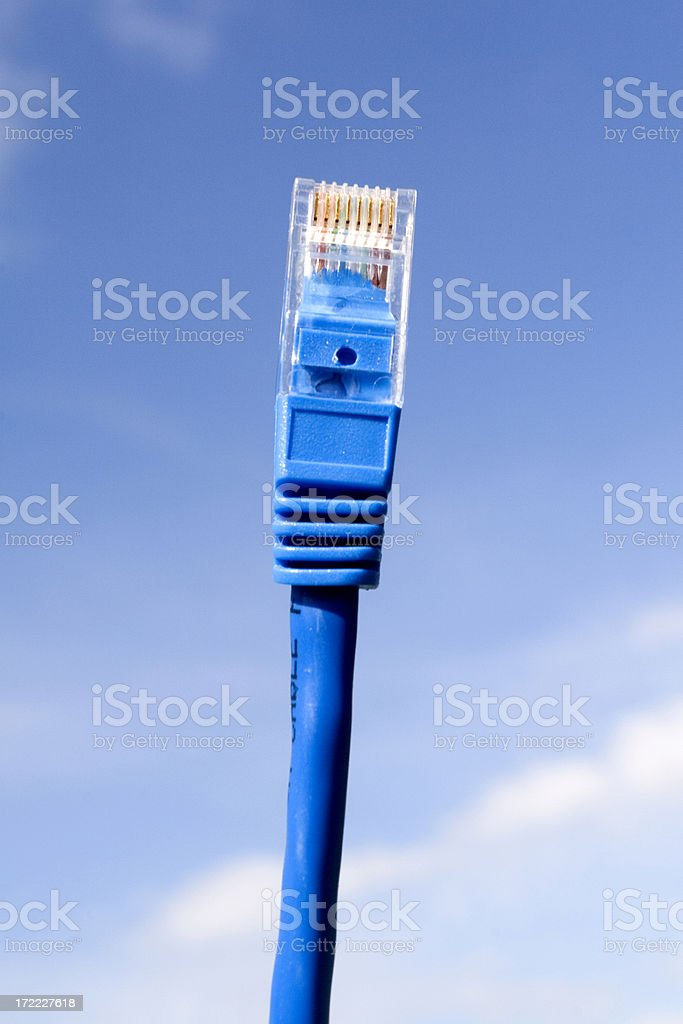 Blue Network Cable royalty-free stock photo
