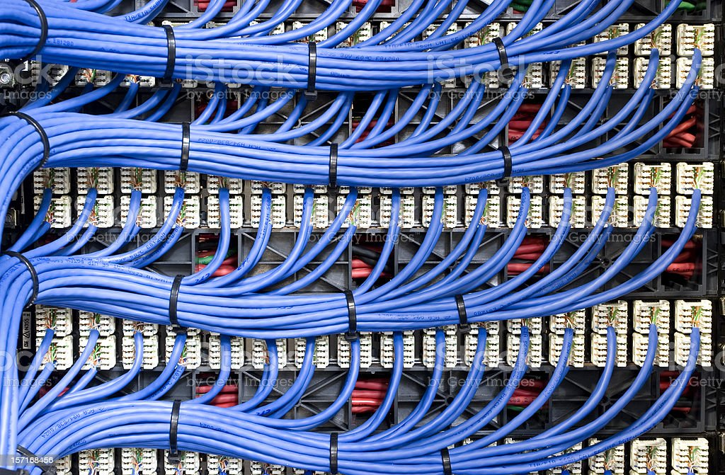 Blue Network Cables royalty-free stock photo