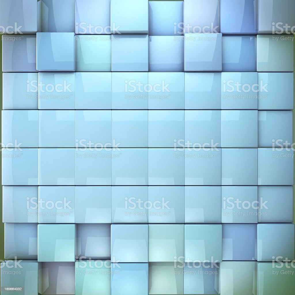Blue nice cubes, abstract background royalty-free stock photo