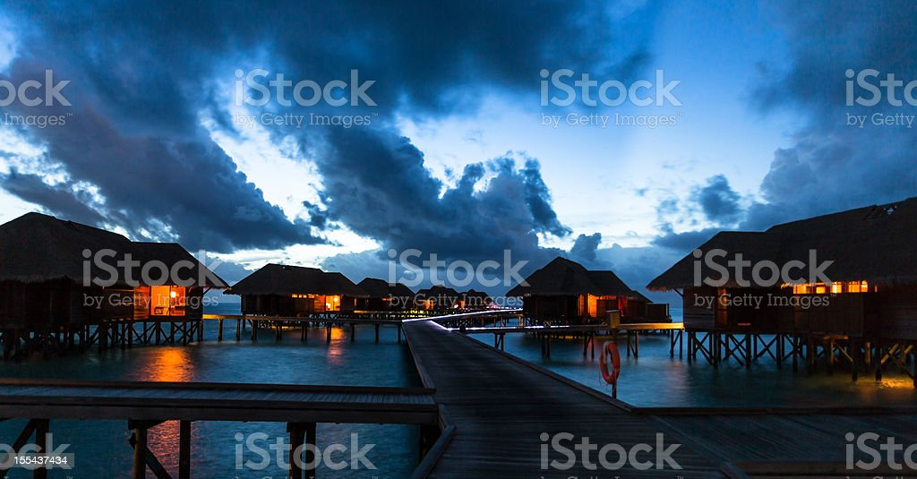 Blue Night stock photo