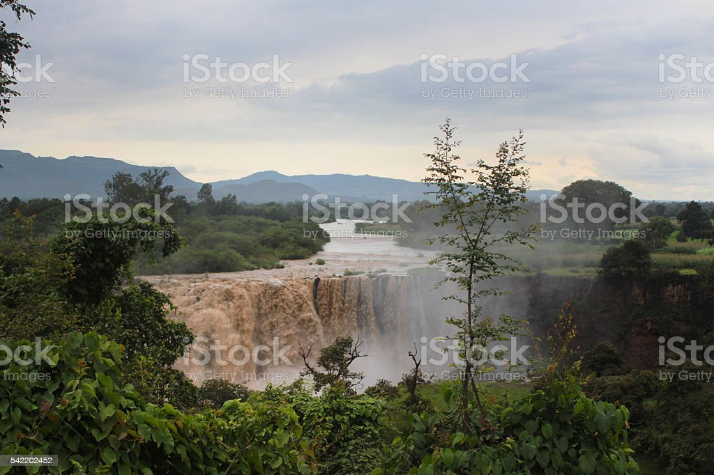 Blue Nile Falls stock photo