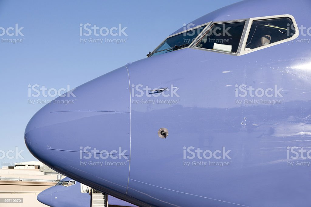 Blue Nose and Cockpit royalty-free stock photo