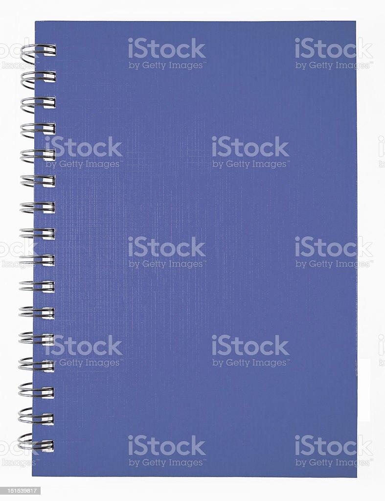 Blue Notebook stock photo