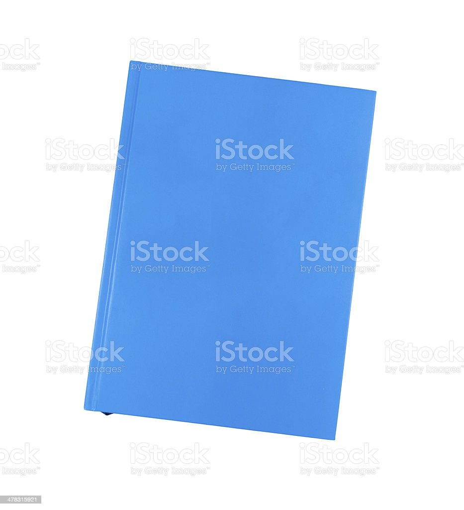 Blue notebook royalty-free stock photo