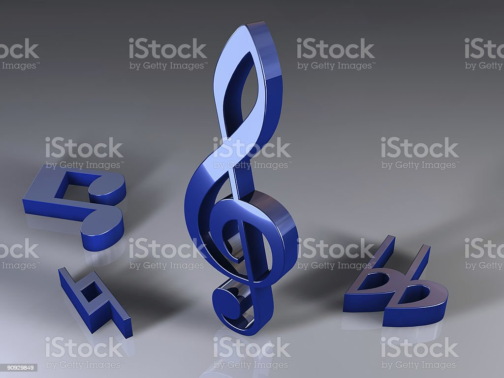 blue notes royalty-free stock vector art
