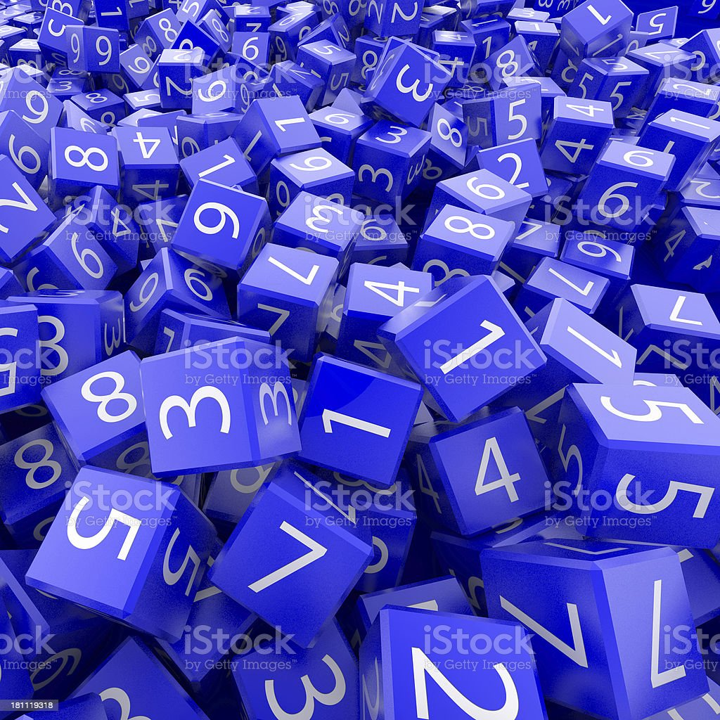 Blue Number Blocks stock photo