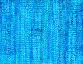 Blue Number Collage