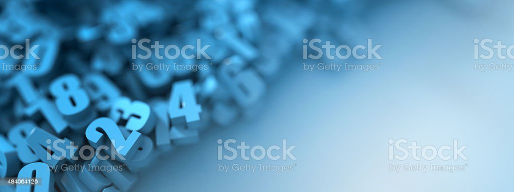 Blue numbers background vector art illustration