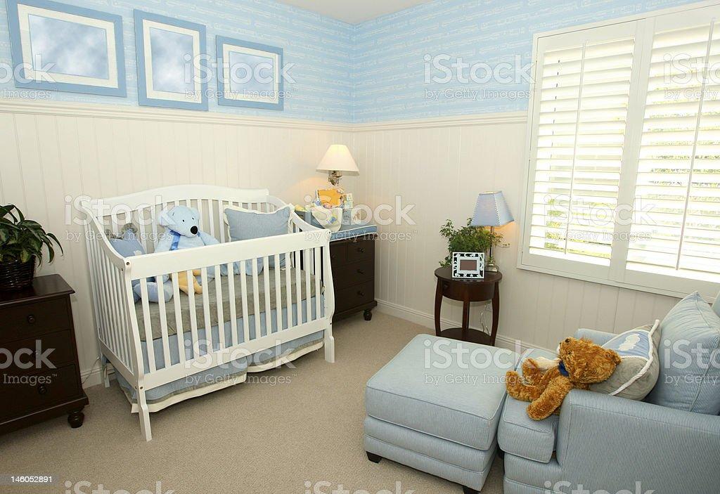 Azul nursery foto de stock libre de derechos
