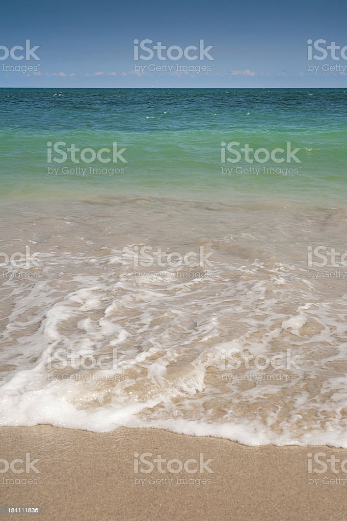 Blue ocean and sunny  beach royalty-free stock photo